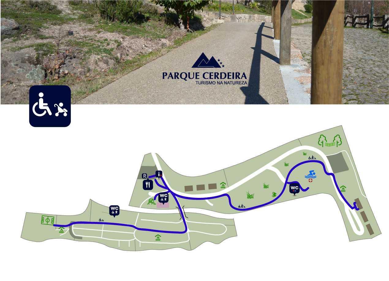 Mapa Acessibilidade Parque Cerdeira