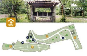 Mapa das churrasqueiras no parque Cerdeira