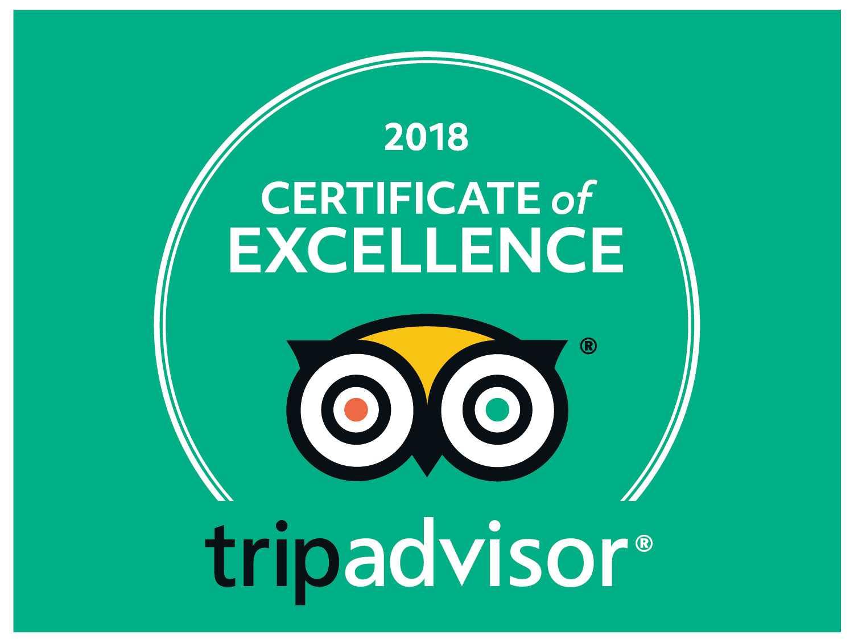 2018 Tripadvisor – Certificado de excelência-parquecerdeira