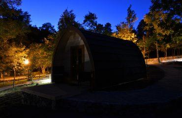 Cabana POD à noite